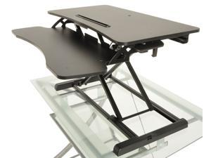 Portabe Height Adjustable Standing Desk Foldable Wooden Computer Table Ergonomic Desk With Keyboard Holder