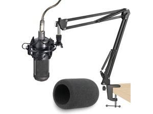 Hot sale Mic Stand with Pop Filter - Microphone Boom Arm Stand with Foam Windscreen for Audio Technica AT2020 AT2020USB+ AT2035 Condenser Microphone