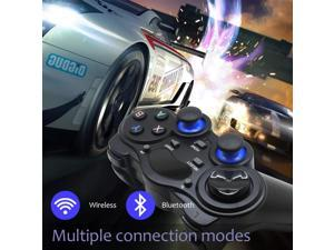 Fashionable Wireless Game Controller, Joystick Gamepad for PC, USB Gaming Controller Compatible with Windows 10/8/7/XP, Laptop, PS3, Android Phone, Steam (Black)