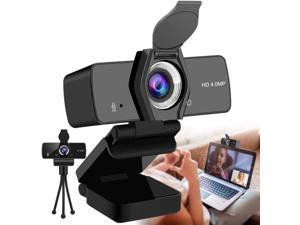 2K Webcam with Microphone,1440P HD Webcam with Privacy Cover and Tripod,USB 2.0/3.0 Plug and Play Web Cameras for Computers for Learning and Teaching Online, Conferencing, Video Calling,Games