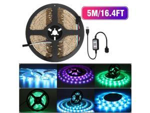 Durable 16.4FT LED Strip Lights Works with Bluetooth controller, Wireless Smart App Control RGB Light Strip Kit Music Sync for Room TV Kitchen Home Party, Bright LED, Multiple colours