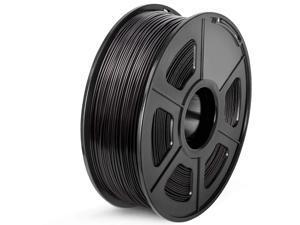 ABS 3D Printer Filament, 1.75 ABS Filament Dimensional Accuracy +/- 0.02 mm, 1 kg Spool, 1.75mm, ABS Black