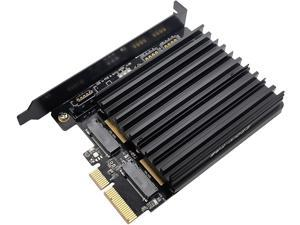 Dual M.2 Adapter, M.2 PCIe NVMe and PCIe AHCI SSD to PCIe 3.0 x4 and M.2 SATA SSD to SATA III Adapter Card