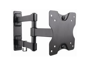 Full Motion Swivel Monitor Wall Mount Bracket Fits Most small TVs and monitors up to 27 Inch LED LCD Flat Screen Some up to 32 Inch with VESA 100x100 or 75x75 Corner Friendly