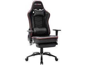 ICOMOCH Ergonomic Adjustable Gaming Chair with Massage and Footrest Lumbar Support Racing Desk Chair Office Chair