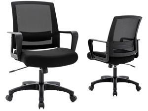 ICOMOCH Ergonomic Office Chair Home Office Swivel Computer Chair with Armrests Lumbar Support, Modern Mid-back Mesh Executive Chair
