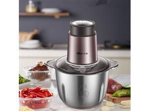 Bear QSJ-B03F1 2L Stainless Steel Food Processor Multipurpose Food Chopper, Blender and Mincer -