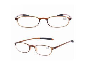 KCASA TR90 Ultralight Unbreakable Best Reading Glasses-Brown/1.5