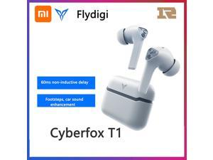 Flydigi TWS Stereo Earphones Wireless Earbuds BT 5.0 Headphones with Touch Control IP54 Waterproof Sports Headphones with Dual Microphone Noise Reduction Technology Long Playtime for Gaming Sports Gym