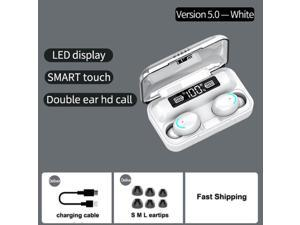 F9-6 TWS BT Wireless Earphones Touch Control 8D HiFi Sound Headsets Noise Cancelling HD Binaural Call Earbuds With 2000mAh Magnetic Charging Case Digital Power Display