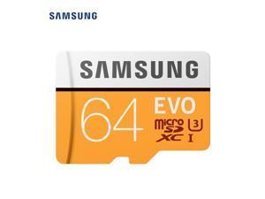 Samsung Micro SD Card TF Card 100MB/s (U3)  EVO Class 10 Memory Card 64GB Adapter Not Include (MB-MP64G)