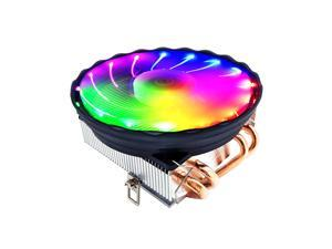 V4 CPU Cooler 4 Copper Heat Pipes 3Pin Colorful Quiet Cooling Fan Replacement for Intel LGA 775/1150/1155/1156/1151/1366 AM2/3/4 FM1/FM2