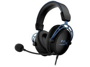 Kingston HyperX Cloud Alpha S Gaming Headset Dual Sound Cavity Headphone with 7.1 Surround Sound Detachable Microphone Blue