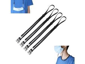 4Pcs Face Bandanas Glasses Lanyard, Handy Safety-Mask-Rest Ear Holder Rope Suitable for men, women, children, elderly.