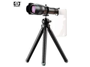 APEXEL APL-JS60XJJ09 Metal 60X HD Phone Telephoto Zoom Lens Kit Monocular Telescope with Mini Extendable Tripod Eye Cup Metal Clip Portable Lens Bag Universal for Most Smartphones for Travel Hunting
