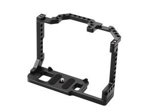 Andoer Camera Cage Aluminum Alloy with Dual Cold Shoe Mount 1/4 Inch Screw Compatible with Canon EOS 90D/80D/70D DSLR Camera