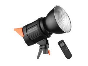Andoer DL200pro Studio COB LED Video Light Photography Light 100W Bi-color 3200-5600K Dimmable Brightness CRI 95+ with Bowens Mount Reflector Remote Control for Studio Photography Outdoor Photography