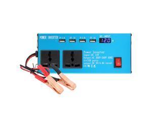 200W Car Power Inverter D C12V to AC220V Multi-Funcitonal Power Converter Digital Display Power Voltage Transformer