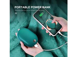 5000mAh/ Portable Power Bank Rechargeable Hand Warmer with LED Display Double-sided Fast Heating Safe Electric Hand Warmer & Phone Charger for Outdoor Advanture Load Trip Camping Emergency Power Bank