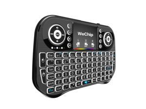 Wechip i10 2.4GHz Wireless Keyboard 7 Colors Backlit Mini Keyboard with Touchpad Mouse Handheld Remote Control for Android TV BOX Smart TV PC Notebook