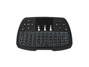 Spanish Version Backlit 2.4GHz Wireless Keyboard Touchpad Mouse Handheld Remote Control 4 Colors Backlight for TV BOX Smart TV PC Notebook