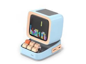 Divoom Ditoo Portable Retro Bluetooth Speaker Pixel Art DIY Box Alarm Clock with 16x16 LED Display Board APP Control Retro Game Player