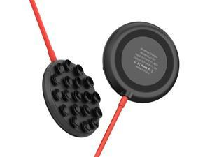 10W Suction Cup Wireless Charger Portable QI Fast Wireless Charging Pad Compatible with iPhone Android Phones