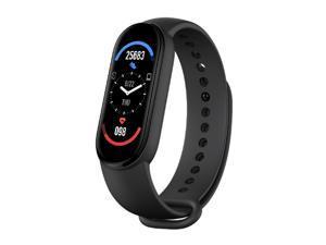 M6 Intelligent Watch Fitness Watch Heart Rate Sleep Monitor Smartwatch 0.96in Color Screen IP67 Waterproof Sports Wristband