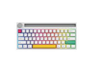 Ajazz K620T BT&Wired Dual-mode Mechanical Keyboard 62 Keys Compact RGB Gaming Office Mechanical Keyboard White (Blue Switches)