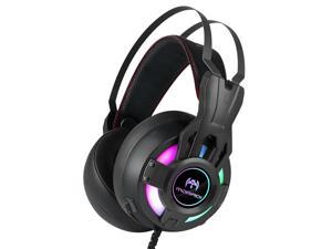 MORADI Electronic Sports Game Headsets 1080B USB7.1 Chip Ear Cover with Skin-friendly Raw Materials Long External Microphone
