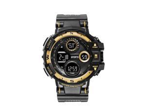 Men's Watch Sports Electronic Watch Cool Luminous Wristwatch Outdoor Waterproof Watches Big Screen Stopwatch Alarm Clock Hourly Chime