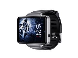 DM101 4G Smart Watch WiFi GPS BT Smartwatch 2.41-inch Touch Screen Android 7.1 3GB+32GB Dual Camera 5MP+2MP IP67 Waterproof Support Nano SIM Card Heart Rate Tracker Pedometer