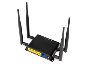 4G LTE Wireless Router 300Mbps High Speed Industrial Router with SIM Card Slot 4 External Antennas Strong Signal America Version