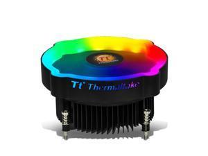 Thermaltake RGB CPU Air Cooler Quite Operation/Push Configuration/Aluminium Fin/Hydraulic Bearing/for Intel CPU Static RGB Color