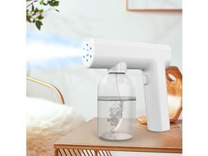 Outdoor Indoor Disinfection Gun, Handheld Blue Light Wireless Portable Rechargeable Nano Atomizer  Large Capacity ULV Electric Sprayer Nozzle Adjustable Fogger