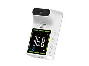 K3 Mini Large Color Display Screen Thermometer High Accuracy BT Voice Alarm Function Multi Language Broadcast Infrared Non-Contact Wall Mounted Thermometer Multipurpose Instant Reading Digital Measuri