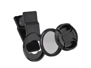 Andoer 37MM Professional Smartphone CPL Filter Set  Clip-on Circular Polarizer Lens with Universal Phone Clip Lens Protector for Smartphone Photography