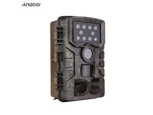 Andoer Wildlife Trial Camera FHD1080P 2-inch Screen 0.8s Triggering IR Night Vision Timelapse Timer Function IP54 Waterproof 64GB Extended Memory with 1/4 Interface