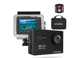 """Andoer AN9000R 4K 16MP WiFi Action Sports Camera 1080P FHD 2"""" Touchscreen 170° Wide Angle Lens with Remote Control Hard Case Support 4X Zoom Waterproof 40m"""