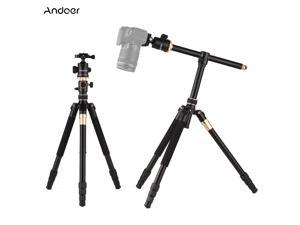Andoer TTT-011 185cm/ 72.83Inch Professional Photography Tripod Monopod Camera Horizontal Tripods Aluminum Alloy 360° Rotatable Ball Head Quick Release Plate 10kg/22lbs Load Capacity with Carry Bag