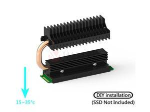 COOLM2SSD - M.2 SSD Radiator Cooler with Heat Pipe, Compatible with PCIE NVME M.2 2280/SATA M.2 2280 SSD. With Thermal Silica Pad (Excluding SSD), Cooling Effect up to 30 Degrees. OEM/ODM Welcome!