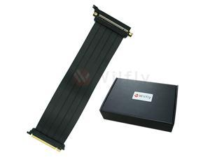 PCIE16ES30 - 300mm PCI-E 3.0 x16 High Quality Flexible EMI Extender Riser Cable - Straight, Extended with No Transmission Speed Loss, Mounting Gaming/GPU Support up to 3.0/16GB. OEM/ODM Welcome!