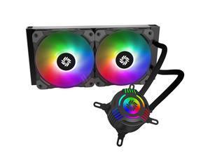 CLC240-XA ARGB AIO CPU Liquid Cooler, 24027 Radiator, Addressable RGB Lighting, Dual 12025 Fans for AMD Ryzen/Intel LGA1200/1151, with ARGB controller. OEM/ODM Welcome!