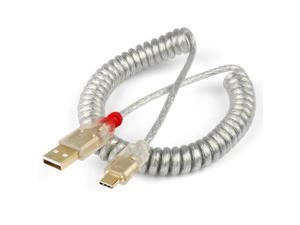 LINDY type c Cable wire Mechanical Keyboard Silver cable coiled cable gold plating usb a to usb c soft wire for detachable usb