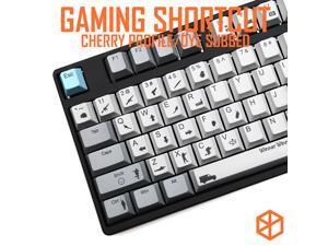 muted colorway PUBG gaming shortcut key Cherry profile Dye Sub Keycap Set keyboard gh60 xd60 xd84 tada68 rs96 zz96 87 104 660