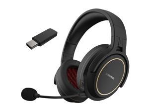 XIBERIA G01 2.4GHz Wireless Gaming Headset Over Ear Game Headphones Stereo Music Earphone Super Bass AUX-IN 3.5mm Wired Headphone w/ Transmitter for TV Game Player Smartphone Laptop Desktop PC
