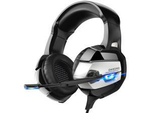 ONIKUMA K5 Gaming Headset with Microphone PC Gamer 3.5mm Stereo Headphones Noise Cancelling Over Ear Ear Cups Compatible with PS4 Gamepad New Xbox Laptop Computer