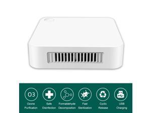 Mini Sterilizer Deodorizer Household Air Purifier Refrigerator Sterilizer USB Rechargeable Deodorization Sterilizer Eliminator Pet Disinfection for Car Office Wardrobe Shoe Cabinet Sterilizers