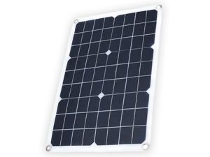 Solar Panel with USB Port Monocrystalline Silicon Solar Cell for DIY Camping Waterproof Solar Panel Compatible for iPhone