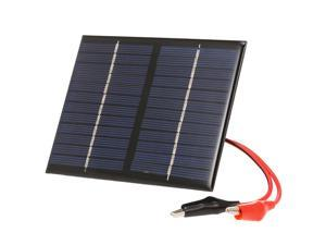 1.5W/12V Solar Charger With Alligator Clip Compact Polycrystalline Solar Panel For Garden/Traffic/Emergency Light Solar Pump Outdoor Advertisement Toys